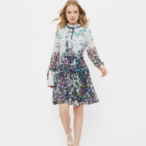 Ted Baker London Lizzata Long Sleeve Dress Ted Baker sizes 1 and 2 $279